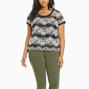Torrid LACE RIBBED TRIM TOP *50% Off Bundles
